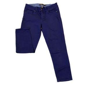 Paige Purple Denim Skinny Cropped Stretch Jeans 28